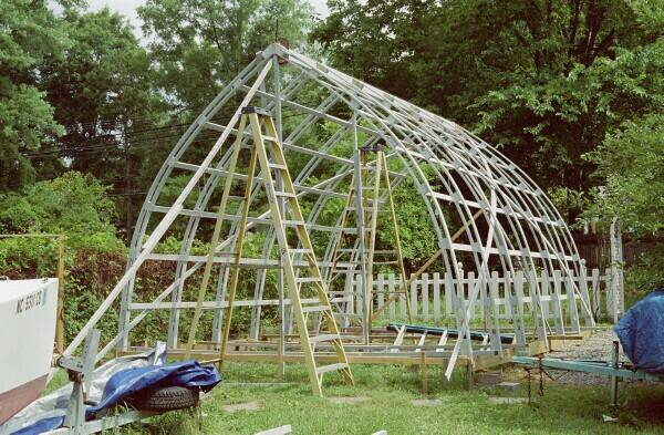 Bow shed for Bow roof shed